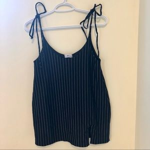 Urban Outfitters pin stripe tank with tie straps
